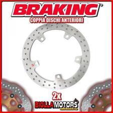 2-RH7004 COPPIA DISCHI FRENO ANTERIORE DX + SX BRAKING BMW K 1200 LT ABS 1200cc