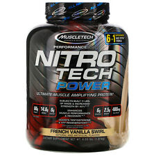 Muscletech  Nitro Tech Power  Ultimate Muscle Amplifying Protein  French Vanilla