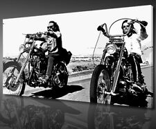 ICONIC FILM EASY RIDER RETRO CANVAS PRINT WALL ART PICTURE READY TO HANG