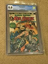 Marvel Feature 1 CGC 8.0 White Pages (1st Red Sonja solo story- Roy Thomas!!)