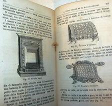 SCIENZA - C. Anfosso: IL FUOCO Storia Teorie Applicazioni 1876 Treves, incisioni