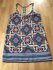 New Look Floral Mini Summer Dress Size 14 Boho