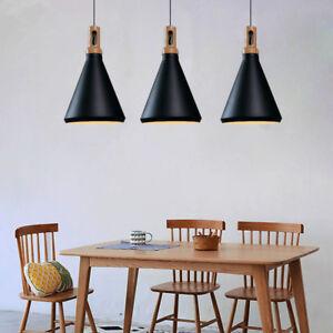 3X Black Pendant Light Kitchen Chandelier Lighting Bar Lamp Home Ceiling Lights