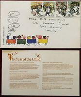 Year of the Child 1979 Post Office First Day Cover July 1979 + Insert