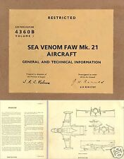de Havilland DH Sea Venom maintenance service manual historic archive Jet FAW 21