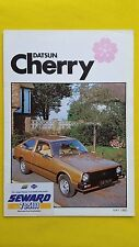 Datsun Cherry Saloon Coupe Hatch sales brochure catalogue June 1980 MINT Nissan