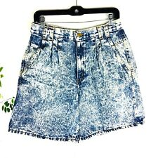 Vintage Chic High Waisted Women's Mom Jean shorts 14 Large Acid Stone Wash