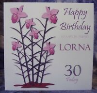 Personalised Floral Birthday Card 21st 30th 40th 50th 60th 70th 80th 90th 100th