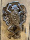 Frog on Lily Pad Doorknocker - Iron