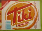 1980s NORWAY SOFT DRINK CORDIAL LABEL, HANSA BRYGGERI BERGEN, TIKI ORANGE LARGE