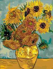 Sunflower by Van Gogh paint by number kit 50cm x 40cm Diy Oil Painting no frame