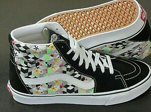 Vans Men's Sk8-Hi Checker Cube Black True White Striped Skate shoes Size 10 NWT