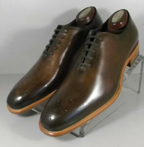 243040 MSi60 Men's Shoes Size 9 M Brown Leather Made in Italy Johnston Murphy