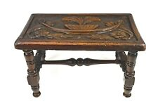 Antique Carved Bench or Foot Stool, French.