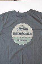 Patagonia hat patch Flying Fish Honolulu Hawaii T-shirt rare Gray XS