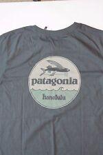 Patagonia hat patch Flying Fish Honolulu Hawaii T-shirt rare Gray Small