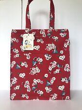 Authentic NEW Cath Kidston Disney Pocket Zipped Shopper Carryall Bag, True Red