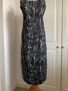WALL LONDON - Black and White Stretch Dress Size M 10/12 New