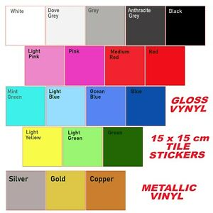 1to100 Kitchen Tile Stickers Bathroom Sticker Self-adhesive Wall Tile Décor