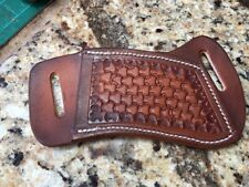 Cross-Draw Leather Sheath for Buck 110/112 Basket weave #2 NO KNIFE