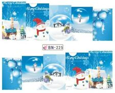 Nail Art Stickers Decals Transfers Christmas Xmas Snow Globe (BN225)