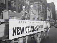 VINTAGE PHOTO MUSIC JAZZ FLOAT NEW ORLEANS HODES GOODWIN POSTER PRINT BB12331B