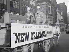 Vintage photo musique jazz flotter la Nouvelle-Orléans Hodes Goodwin Poster print BB12331B