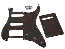 Strat ST Pickguard,Back Plate,Screws HSS Dark Tortoise for Fender