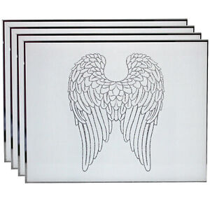 Set of 4 Angel Wings Design Table Mats Home Kitchen Ornament Rectangle Placemats