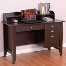 Computer Desk PC Laptop Writing Table Workstation Student Study Furniture Brown