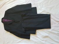 "MENS RACING GREEN BLACK STRIPE SUIT 38"" CHEST, TROUSERS 32/32"""