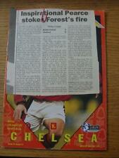 11/01/1997 Nottingham Forest v Chelsea [With Press Clipping From Game] (No appar