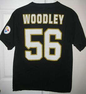 NFL Pittsburgh Steelers #56 LaMarr Woodley Shirt Large by NFL Team Apparel