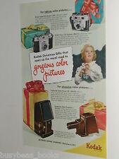1951 Kodak ad, Cameras, Signet, Pony, Kodaslide etc