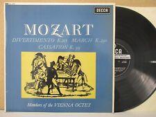SXL 6510 WBG ED1- MOZART Divertimento/March/Cassation VIENNA OCTET LP EX+ Vinyl