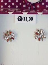 orecchini argento 925 rodiato zirconi arancio verde giallo  4you jewels a lobo