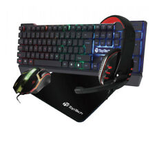 🔥🔥4 In1 Gaming Pro Set Corded LED Keyboard Mouse & Headphone with Mouse Pad🔥