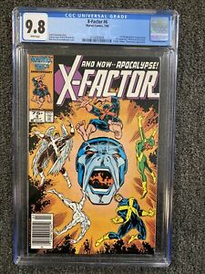 X-Factor 6 CGC 9.8 - Newsstand- White Pages -1st Apocalypse!!