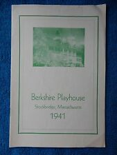 The Male Animal - Berkshire Playhouse Theatre Playbill - August 18th, 1941