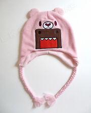 Pink DOMO Monster Laplander Winter Hat Teddy Bear Braids 3-5 Years OSFM NWT CUTE