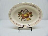 Vernon Ware by Metlox Oval Serving Platter Fruit Basket pattern, Ships Free!