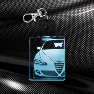 Portachiavi multicolor led idea regalo auto car keychain alfa romeo 147 alfista