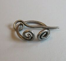 small NEW Viking / CELTIC  Penannular Brooch cloak pin iron colour LARP