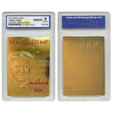 DONALD TRUMP 45th President 23K GOLD Sculpted Card Red SIGNATURE '20 GEM-MINT 10