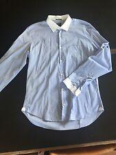 Camicia RARE Azzurra Con Colletto E Polsini Bianchi Tg. XXL