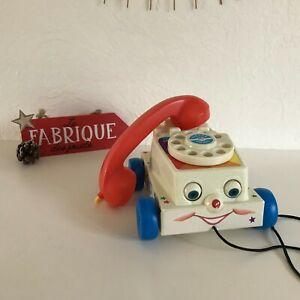 👿 Jouet Téléphone à Tirer Fisher Price Toys Année 2009 Mattel
