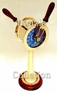 "20"" Nautical Maritime Brass Ship's Engine Order Telegraph Decorative Collectible"