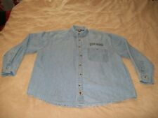 "HARLEY-DAVIDSON ""POLICE"" LONG SLEEVE DENIM BUTTON DOWN / SIZE: M / EMBROIDERED"