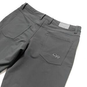 Outdoor Research 34 x 32 Pants Mens Nylon Blend Gray Ferrosi ?
