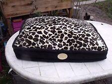Maxi tapis coussin corbeille panier confort en peau de pêche velours déhoussable